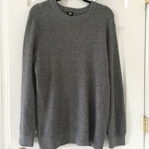 H & M men's crewneck sweater medium gray